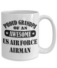US Air Force Airman Proud Grandpa Coffee Mug