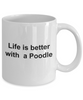 Poodle Dog Lover Gift Birthday Christmas Ceramic Coffee Mug