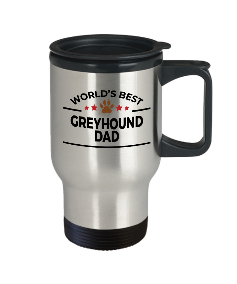 Greyhound Dog Dad Travel Coffee Mug