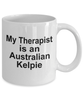 Australian Kelpie Dog Owner Lover Funny Gift Therapist White Ceramic Coffee Mug