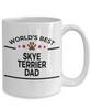 Skye Terrier Dog Lover Gift World's Best Dad Birthday Father's Day White Ceramic Coffee Mug