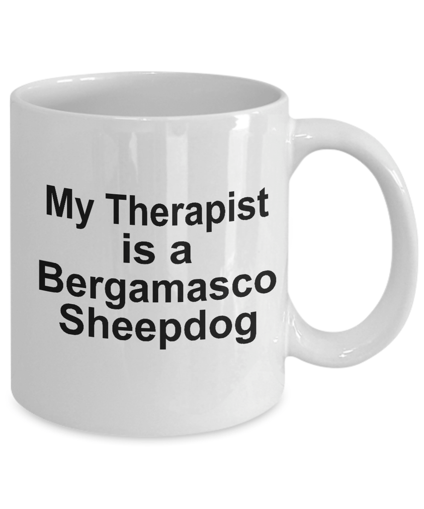 Bergamasco Sheepdog Dog Owner Lover Funny Gift Therapist White Ceramic Coffee Mug