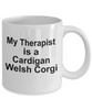 Cardigan Welsh Corgi Dog Therapist Coffee Mug