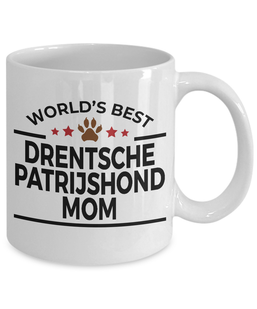 Drentsche Patrijshond Dog Lover Gift World's Best Mom Birthday Mother's Day White Ceramic Coffee Mug