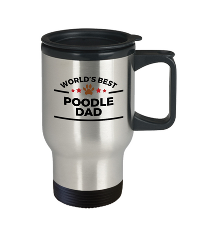 Poodle Dog Dad Travel Coffee Mug