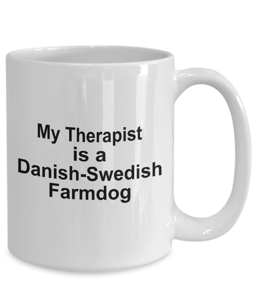 Danish-Swedish Farmdog Dog Owner Lover Funny Gift Therapist White Ceramic Coffee Mug