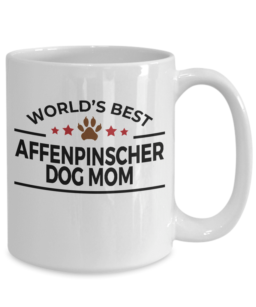 Affenpinscher Dog Lover Gift World's Best Mom Birthday Mother's Day White Ceramic Coffee Mug