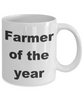 Farmer Gift - Farmer of the year funny coffee mug