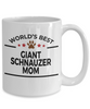 Giant Schnauzer Dog Lover Gift World's Best Mom Birthday Mother's Day White Ceramic Coffee Mug