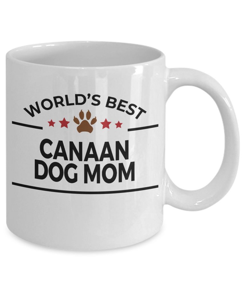 Canaan Dog Lover Gift World's Best Mom Birthday Mother's Day White Ceramic Coffee Mug