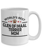 Glen of Imaal Terrier Dog Lover Gift World's Best Mom Birthday Mother's Day White Ceramic Coffee Mug