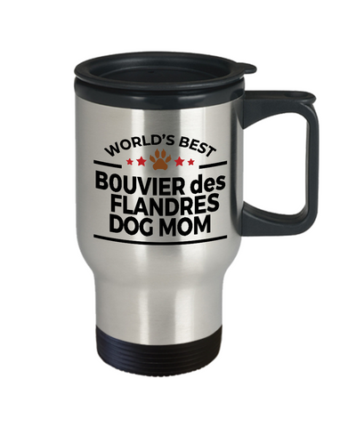Bouvier des Flandres Dog Lover Owner Gift World's Best Mom Stainless Steel Insulated Travel Coffee Mug