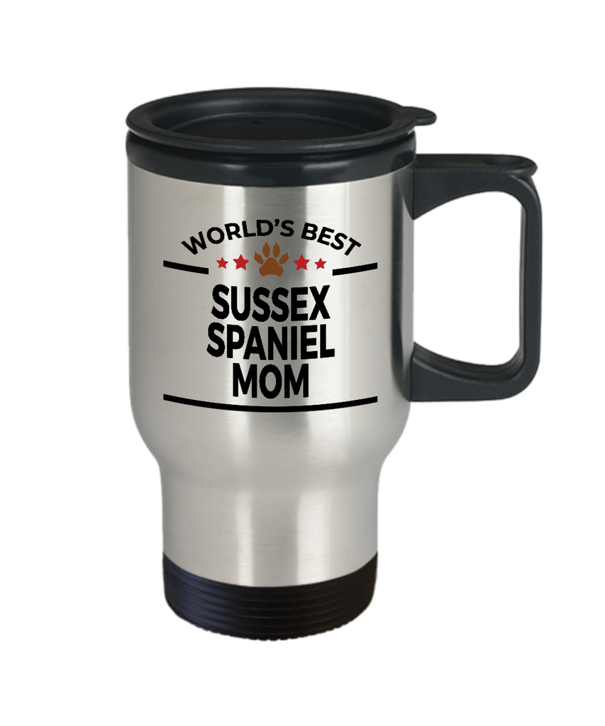 Sussex Spaniel Dog Lover Gift World's Best Mom Birthday Mother's Day Stainless Steel Insulated Travel Coffee Mug