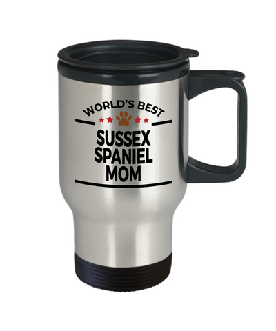 Sussex Spaniel Dog Mom Travel Coffee Mug