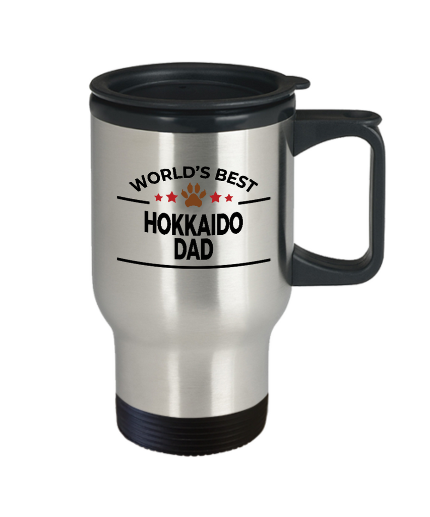 Hokkaido Dog Lover Gift World's Best Dad Birthday Father's Day Stainless Steel Insulated Travel Coffee Mug