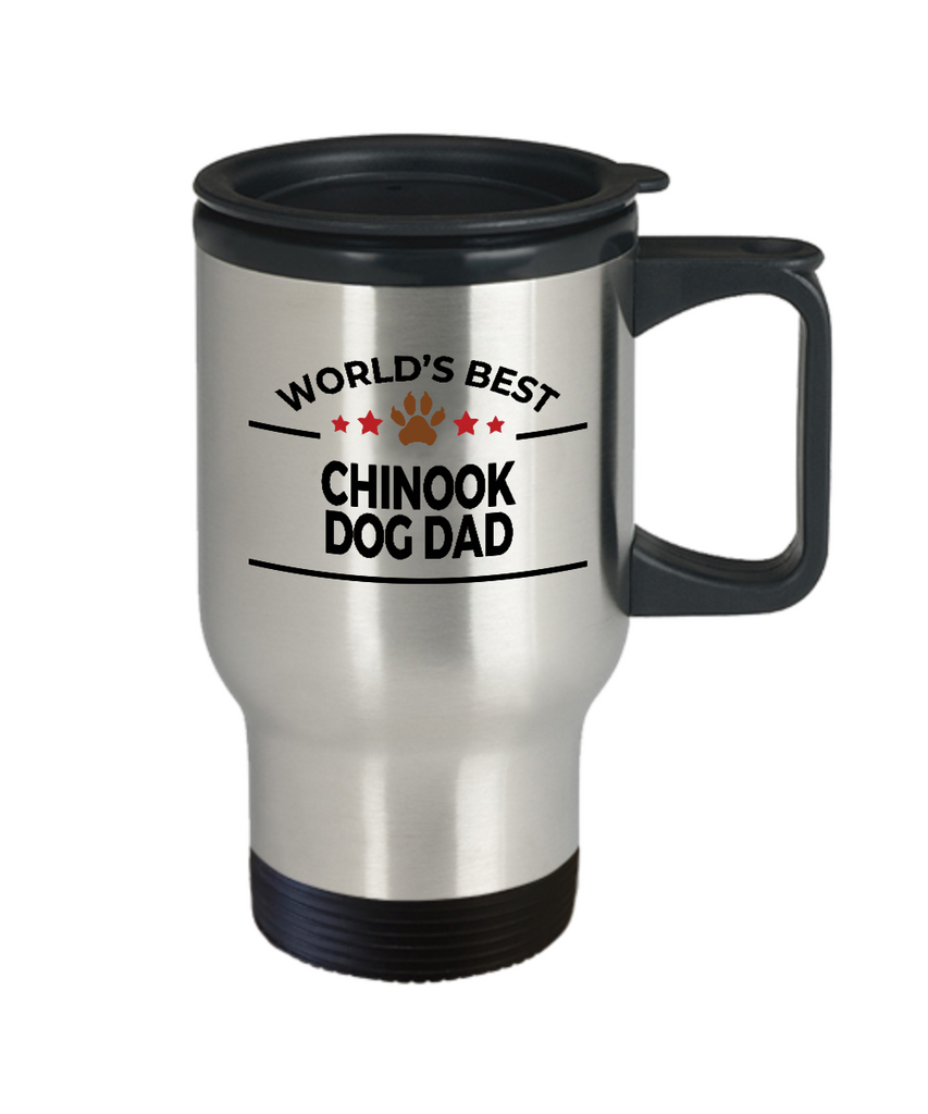 Chinook Dog Lover Gift World's Best Dad Birthday Father's Day Stainless Steel Insulated Travel Coffee Mug