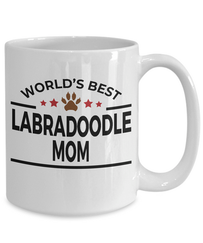 Labradoodle Dog Lover Gift World's Best Mom Birthday Mother's Day White Ceramic Coffee Mug