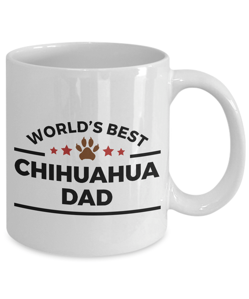 World's Best Chihuahua Dad Ceramic Mug -Great Gift for Dog Lovers