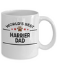 Harrier Dog Lover Gift World's Best Dad Birthday Father's Day White Ceramic Coffee Mug