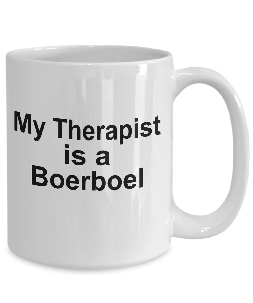 Boerboel Dog Owner Lover Funny Gift Therapist White Ceramic Coffee Mug