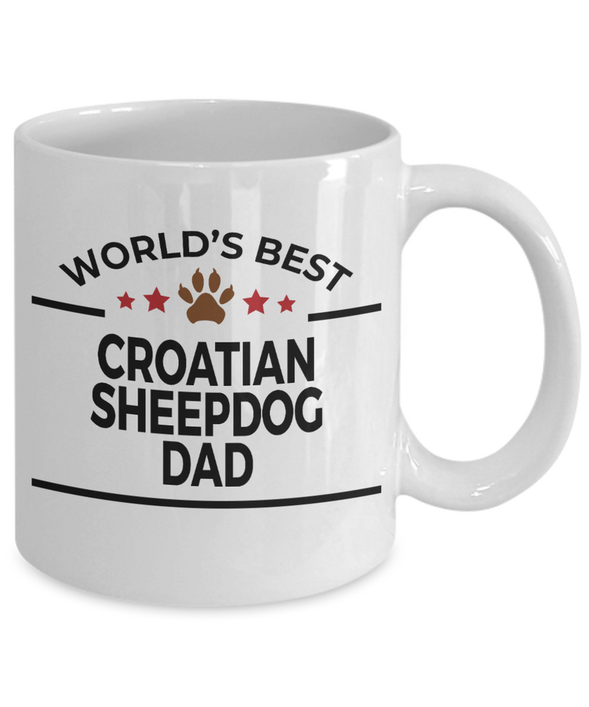 Croatian Sheepdog Dog Dad Coffee Mug