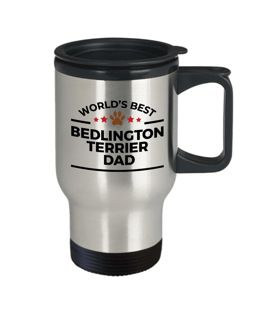 Bedlington Terrier Dog Dad Travel Coffee Mug