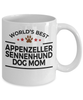 Appenzeller Sennenhund Dog Lover Gift World's Best Mom Birthday Mother's Day White Ceramic Coffee Mug