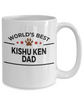 Kishu Ken Dog Lover Gift World's Best Dad Birthday Father's Day White Ceramic Coffee Mug