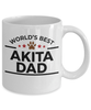 Akita Dog Lover Gift World's Best Dad Birthday Father's Day White Ceramic Coffee Mug