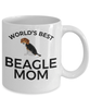 Beagle Puppy Dog Lover Gift World's Best Mom Birthday Mother's Day Present White Ceramic Coffee Tea Mug