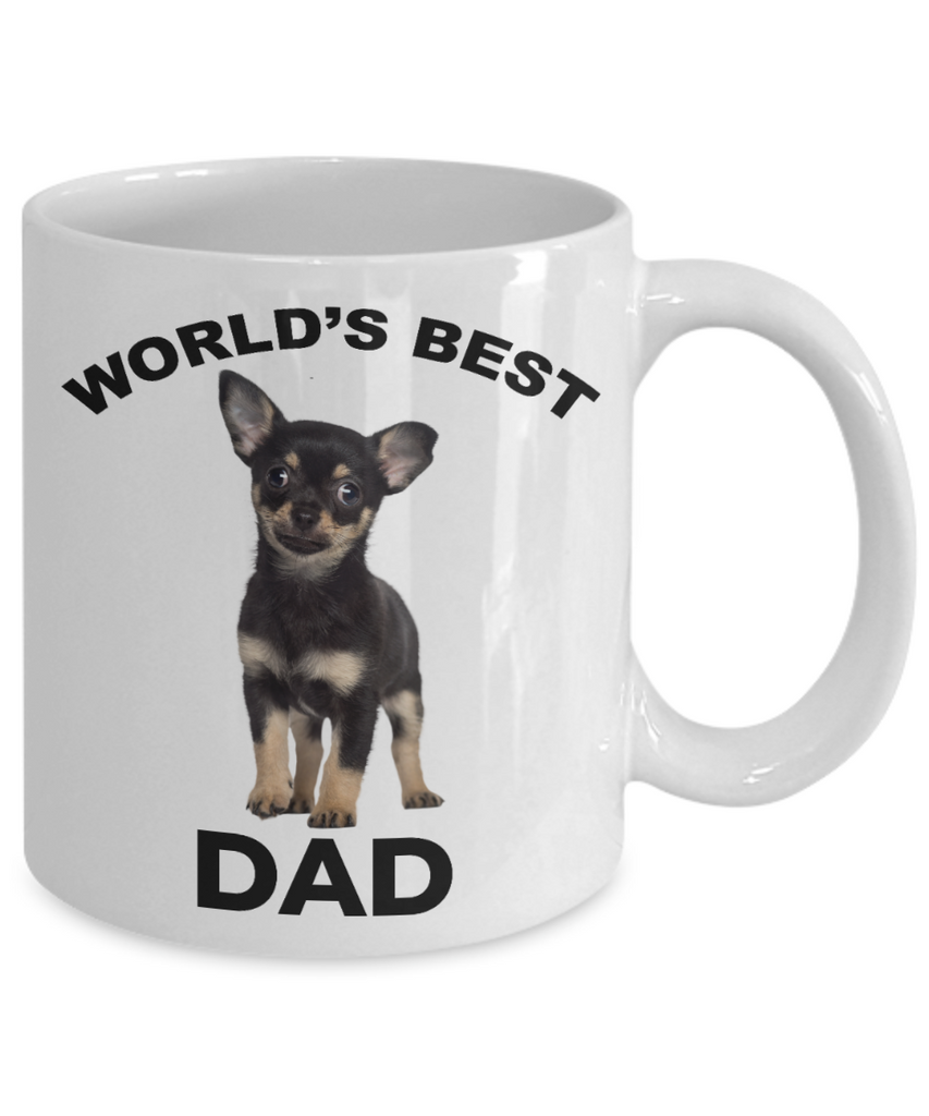 Chihuahua Puppy Best Dad Mug - Black and Tan