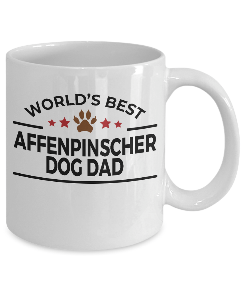 Affenpinscher Dog Lover Gift World's Best Dad Birthday Father's Day White Ceramic Coffee Mug