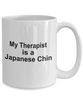 Japanese Chin Dog Owner Lover Funny Gift Therapist White Ceramic Coffee Mug