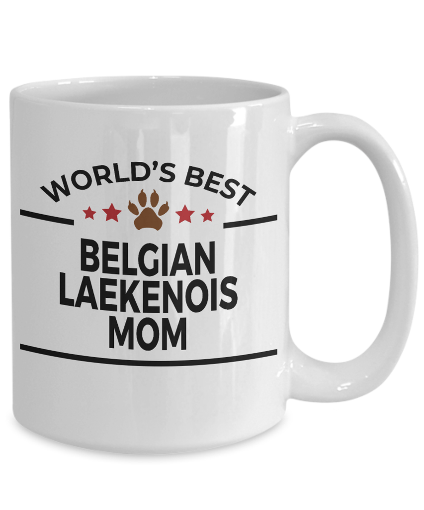 Belgian Laekenois Dog Lover Gift World's Best Mom Birthday Mother's Day White Ceramic Coffee Mug