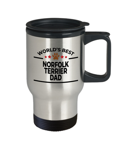 Norfolk Terrier Dog Dad Travel Coffee Mug