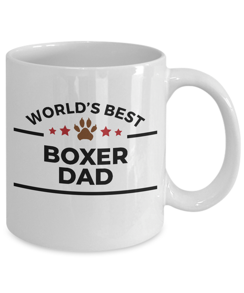 World's Best Boxer Dad Ceramic Coffee Mug