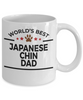 Japanese Chin Dog Lover Gift World's Best Dad Birthday Father's Day White Ceramic Coffee Mug