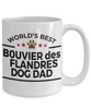 Bouvier des Flandres Dog Lover Owner Gift World's Best Dad White Ceramic Coffee Mug