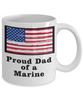 Proud Dad of a Marine Coffee Mug