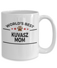 Kuvasz Dog Lover Gift World's Best Mom Birthday Mother's Day White Ceramic Coffee Mug