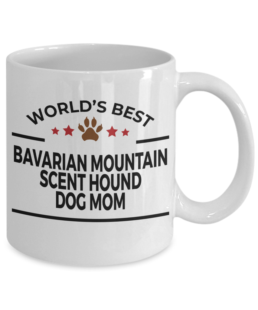 Bavarian Mountain Scent Hound Dog Lover Gift World's Best Mom Birthday Mother's Day White Ceramic Coffee Mug