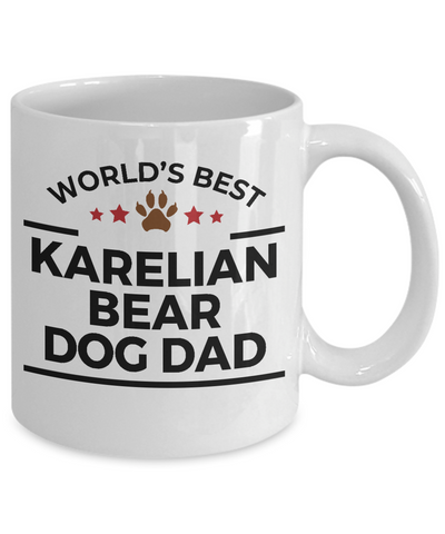 Karelian Bear Dog Lover Gift World's Best Dad Birthday Father's Day White Ceramic Coffee Mug