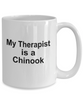 Chinook Dog Owner Lover Funny Gift Therapist White Ceramic Coffee Mug