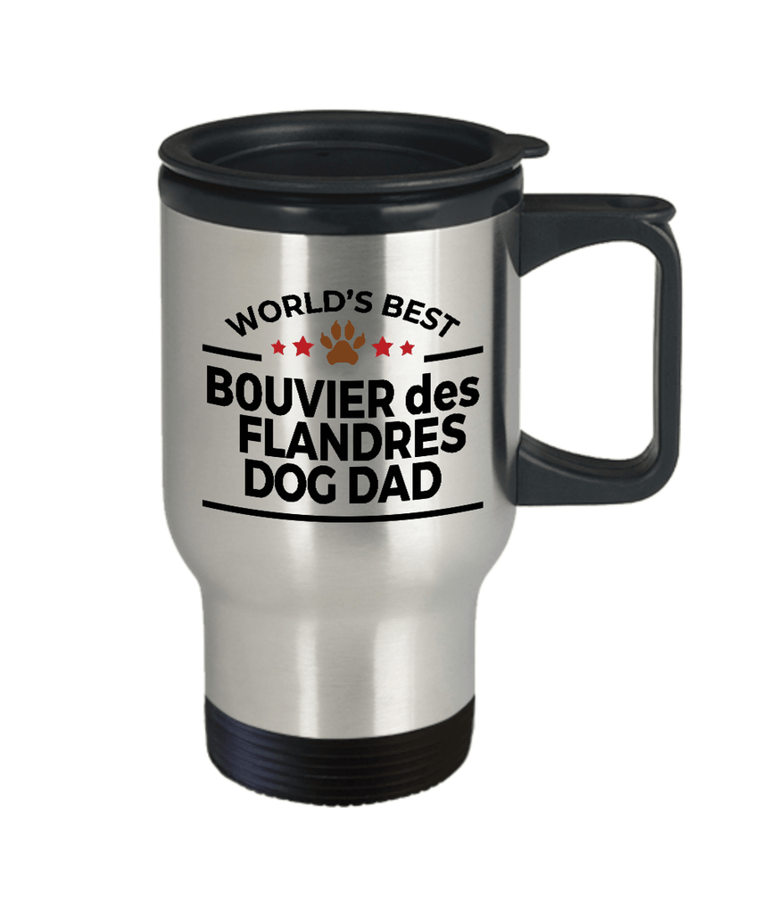 Bouvier des Flandres Dog Lover Owner Gift World's Best Dad Stainless Steel Insulated Travel Coffee Mug