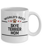 Skye Terrier Dog Lover Gift World's Best Mom Birthday Mother's Day White Ceramic Coffee Mug
