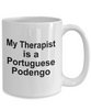 Portuguese Podengos Dog Owner Lover Funny Gift Therapist White Ceramic Coffee Mug