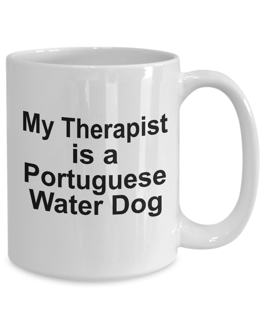 Portuguese Water Dog Dog Owner Lover Funny Gift Therapist White Ceramic Coffee Mug