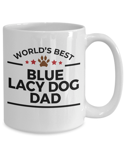 Blue Lacy Dog Lover Gift World's Best Dad Birthday Father's Day White Ceramic Coffee Mug
