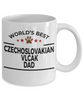 Czechoslovakian Vlcak Dog Lover Gift World's Best Dad Birthday Father's Day White Ceramic Coffee Mug
