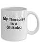 Shikoku Dog Owner Lover Funny Gift Therapist White Ceramic Coffee Mug